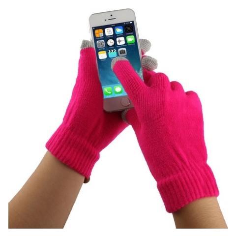 Network Shop Guanti Touch Screen Per Smartphone E Tablet Magenta