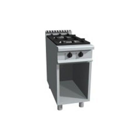 Cucina 2 fuochi a gas su vano a giorno - Dim. cm 40x90x85h