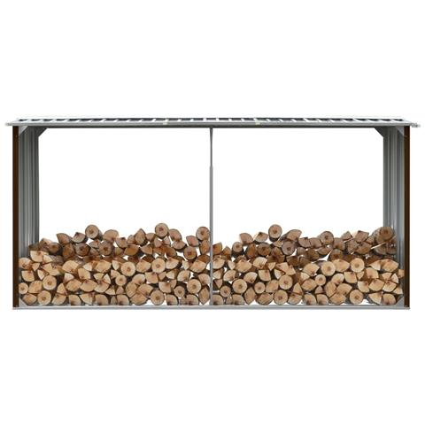 Capannone Da Giardino In Acciaio Zincato 330x92x153cm Marrone