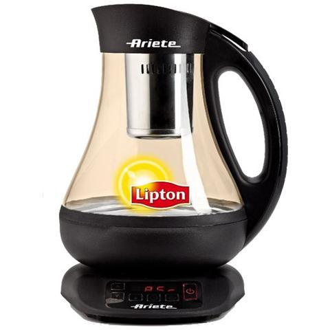 Macchina Automatica Lipton per Tè e Tisane Cordless Capacità 1 Lt Display Digitale Potenza 2400 Watt Colore Nero