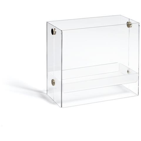 Emporium Portariviste Bibai Metacrilato Bianco Satinato Componenti D'arredo Design