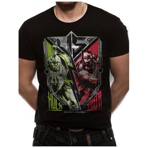 CID Thor Ragnarok - Thor V Hulk (T-Shirt Unisex Tg. S)