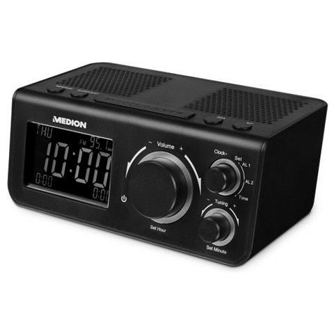 MEDION E66323, Orologio, LCD, Analog & digital, FM, PLL, AC, Batteria