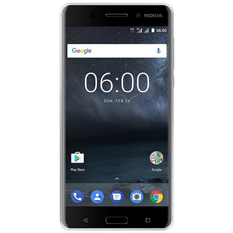 "NOKIA N6 Argento 32 GB 4G / LTE Dual Sim Display 5.5"" Full HD Slot Micro SD Fotocamera 16 Mpx Android Italia"