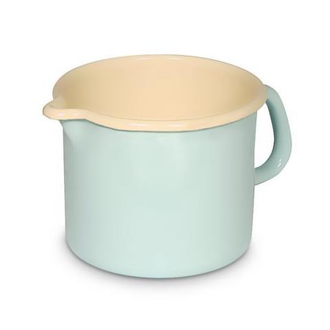 Pentolino da latte Pastell 0,75 l colore verde in smalto
