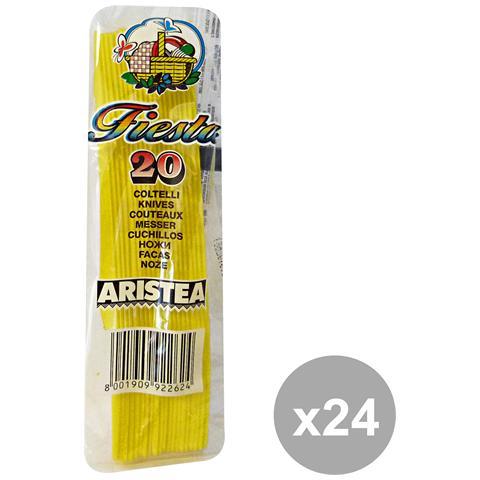 GNP Set 24 Coltelli Colorato 20 Pezzi Giallo Art. 792263 Posate