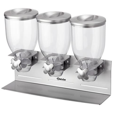 Dispenser erogatore di cereali a 3 campane da 3,5 litri 500379