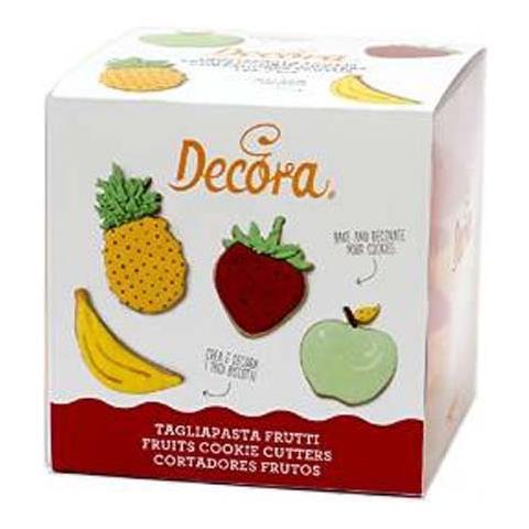 Set 4 tagliabiscotti frutta