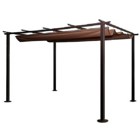 Gazebo in acciaio veranda da giardino 350 x 250 cm