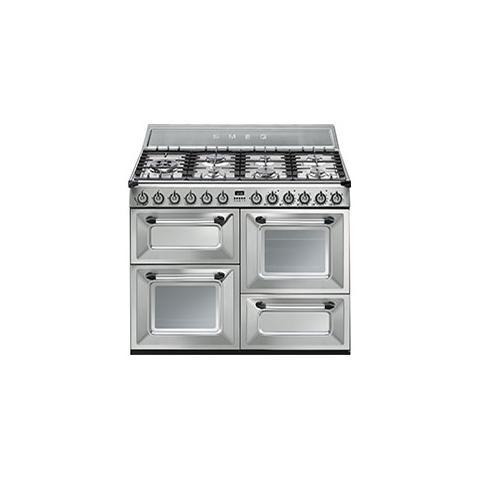 Cucina a Gas TR4110X 7 Fuochi Forno Elettrico Classe A Dimensioni 110x60 Colore Acciaio In...