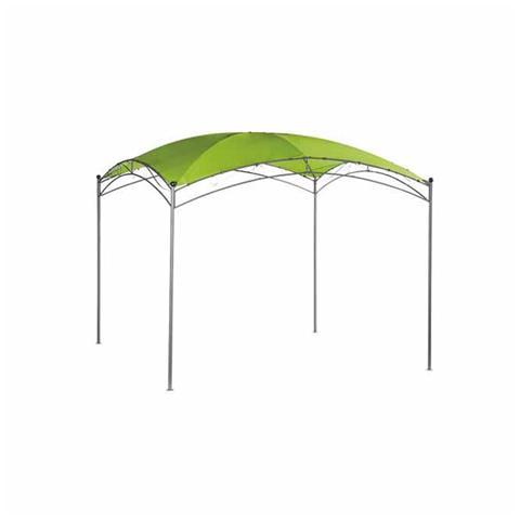 Gazebo in acciaio da giardino 350 x 350 cm con telo verde