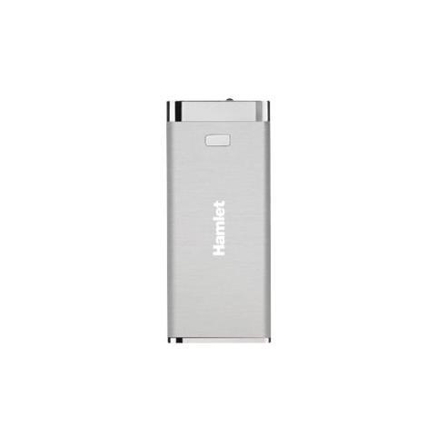 HAMLET Power Bank Batteria Esterna 4500 mAh - Argento