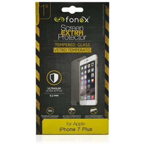 FONEX Protezione Schermo in Vetro Temperato Ultra Sottile 0,2 mm per Apple iPhone 7 Plus (1Pz)