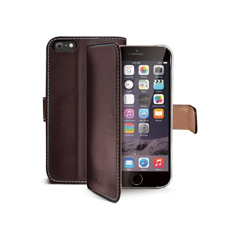 CELLY wallet genuine leather for iphone6 brown