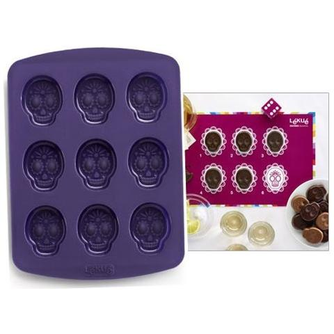Lekué Stampo In Silicone E Gioco Crazy Skull Game Per Cioccolatini Lekuè