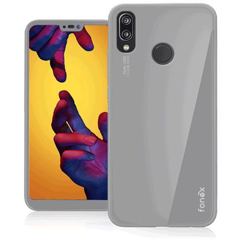 FONEX Cover in TPU per Huawei P20 Lite Colore Bianco Opaco