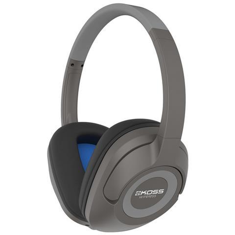KOSS BT539i Padiglione auricolare Stereofonico Con cavo e senza cavo Nero, Blu, Grigio auricolare per telefono cellulare