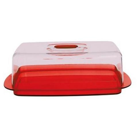 Copriformaggio in plastica colore rosso cm. 30x17x10