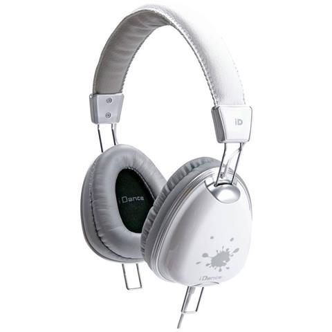 I Dance Cuffie con Microfono Cablato Funky 500 Colore Bianco