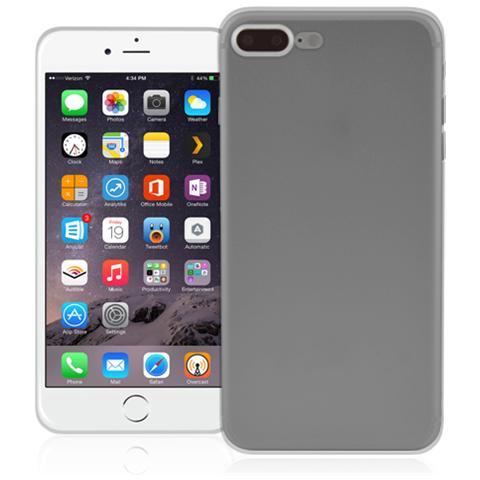 FONEX Inv Cover Ultra Sottile 0,2 mm in Morbido TPU per Apple iPhone 7 Plus Colore Nero Trasparente