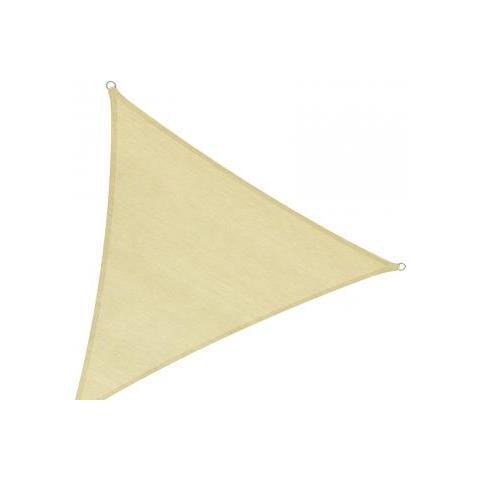 Tenda Parasole Triangolare 4x4x4 Metri Sabbia