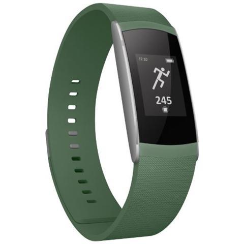 WIKO WiMate SmartBand Khaki con Contapassi, Sensore di frequenza cardiaca - Italia