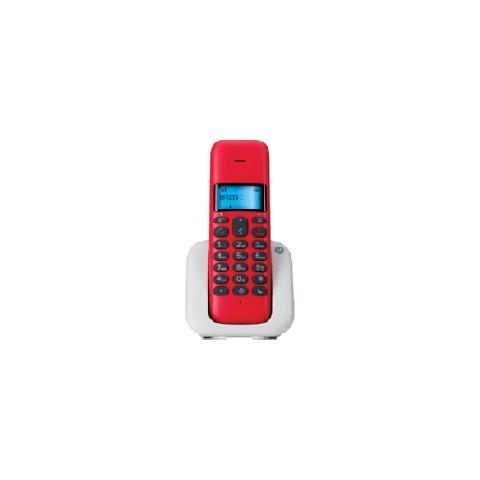 MOTOROLA T301PLUSRED Telefono Cordless Motorola T301 Plus Red