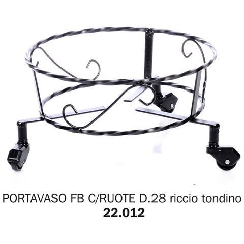 Portavaso Fb Con Ruote D. 28 Riccio Tondino