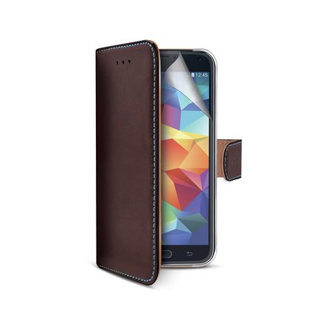 CELLY wallet gen. leather for galaxy s5 br