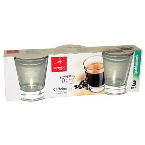 BORMIOLI Confezione 3 Bicchieri - Limoncino Caffeino