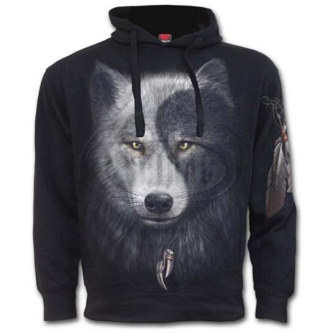 SPIRAL Wolf Chi Side Pocket Black (Felpa Unisex Tg. S)