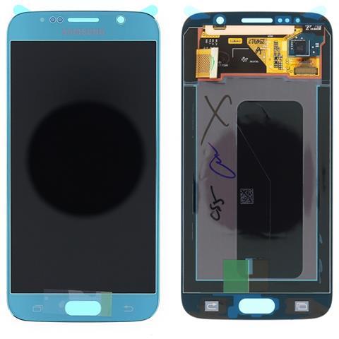 Image of Lcd Touch Screen E Vetro Completo Blu Per Galaxy S6 G920