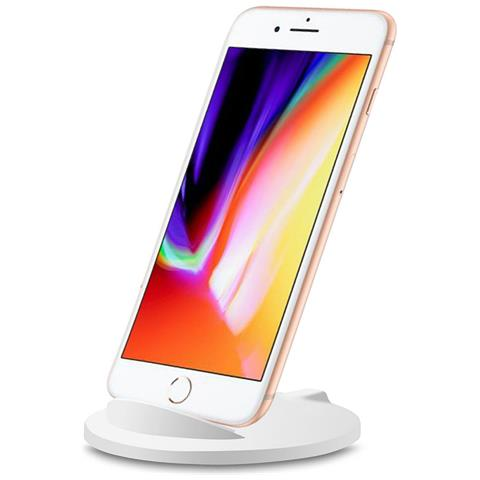 TECHLY I-CHARGE-WRM-5W - Caricabatterie Wireless Qi Stand Stondato 5W Bianco