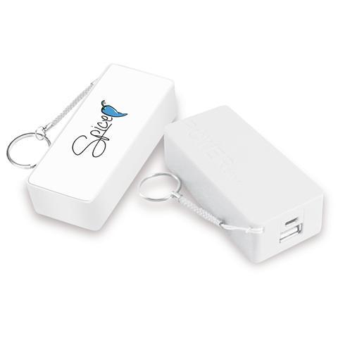 SPICE Power Bank Batteria di Emergenza 5200 mAh. Colore Bianco