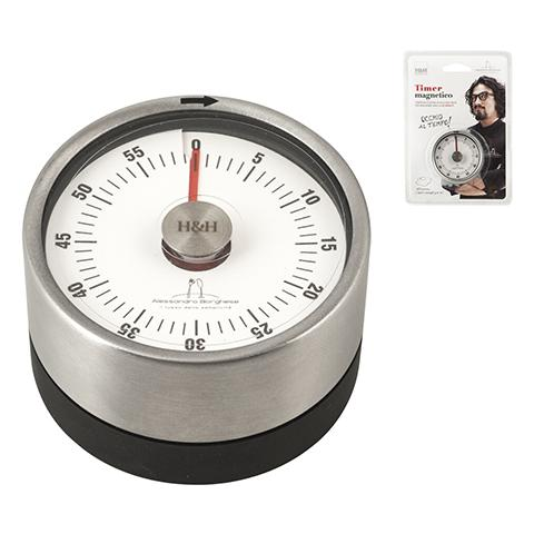 Timer Cucina Meccanico Con Magnete Borghese Cm6 Strumenti Da Cucina