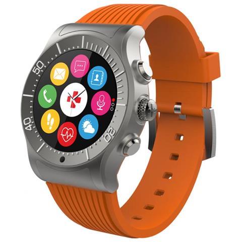 MY KRONOZ Smartwatch Zesport con GPS e Monitoraggio del Cuore Arancione Taglia Regolare - Europa