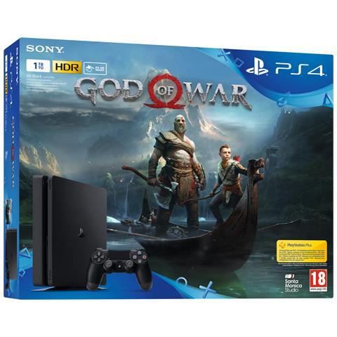 Image of Console Playstation 4 PS4 1 Tb Slim Black + God of War Limited Bundle
