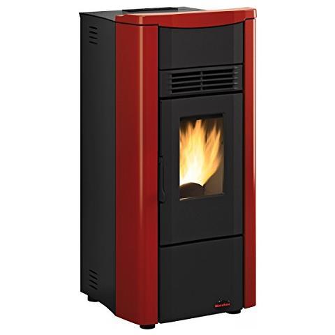 Stufa a Pellet Giusy Plus Evo Potenza Termica 8 kW 230 m3 Riscaldabili Colore Bordeaux