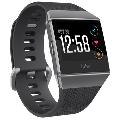 Fitbit Smartwatch Ionic con GPS Incorporato e Monitoraggio Attività Fisica Colore Nero / Grigio - Europa