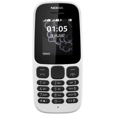 "NOKIA 105 Bianco Dual Sim Display 1.8"" - Italia"