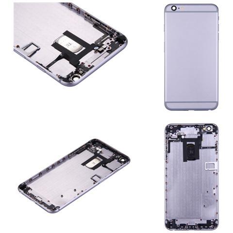 BOMA Retro Cover Telaio Scocca Ricambio Apple Iphone 6 Plus Grigio Scuro Completa