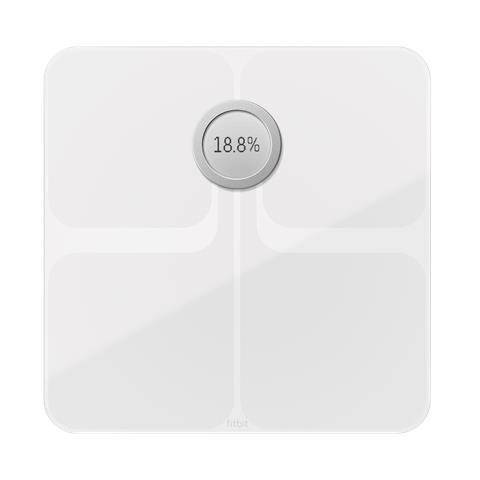 Fitbit Aria 2 Wi-Fi Smart Bilancia Pesapersone Portata 158 kg - Colore Bianco
