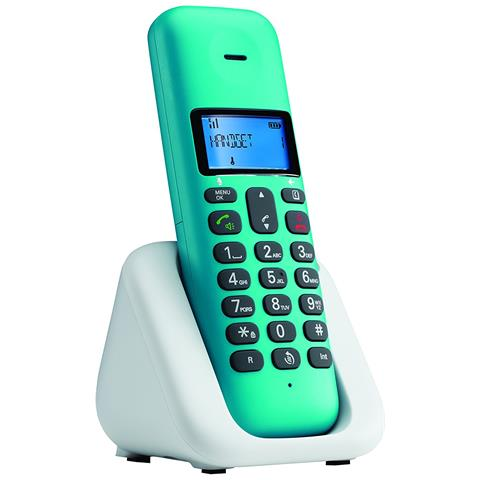 MOTOROLA T301PLUSTRQSE Telefono Cordless Motorola T301 Plus Torquoise