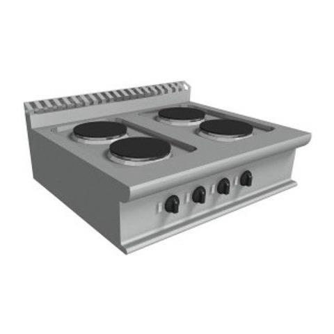 Cucina elettrica con 4 piastre tonde - Dim. cm. 80x70x27h