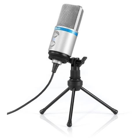 IK MULTIMEDIA iRig Mic Studio microfono a condensatore per iOS, Android argento