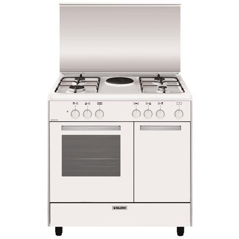 Cucina Elettrica AR856EX 5 Fuochi Forno Elettrico Classe A Dimensioni 80x50 Colore Bianco...