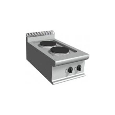 Cucina elettrica con due piastre tonde - Dim. cm. 40x70x27h