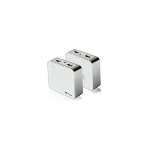 XLAYER 207680, Bianco, Universale, Ioni di Litio, 6000 mAh, USB, 7,5 cm