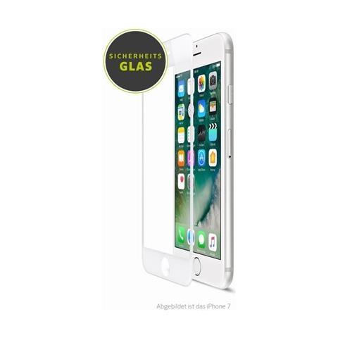 ARTWIZZ Pellicola protettiva in vetro curvo per iPhone 8 con bordo bianco