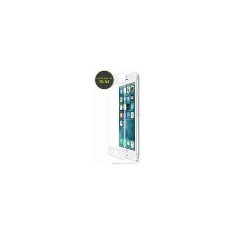 ARTWIZZ Pellicola protettiva in vetro curvo per iPhone 8 Plus con bordo bianco